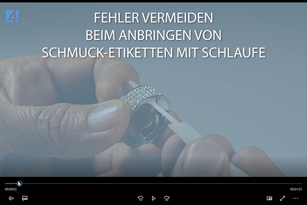 Video Schlaufen-Etiketten