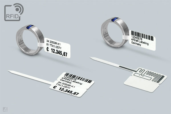RFID jewellery label with loop, UHF