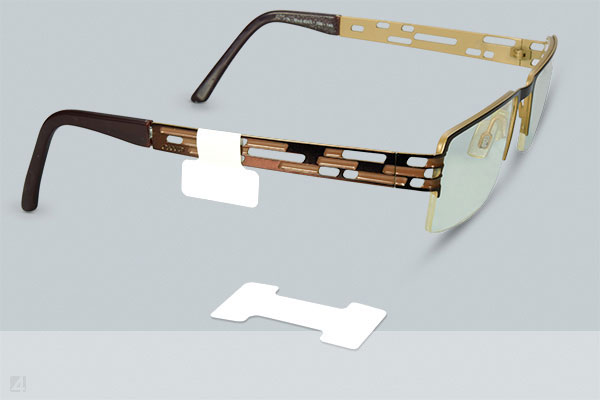 Eyeglass Labels in Dumbell Shape