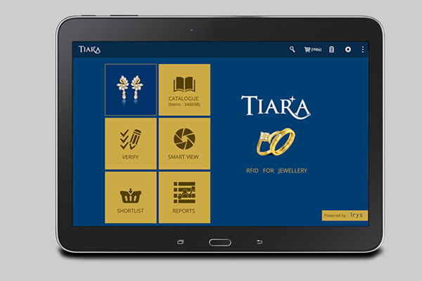 RFID software Tiara on tablet pc
