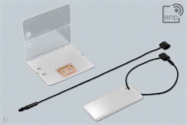 RFID label wraptag 35 3865 with transponder inlay